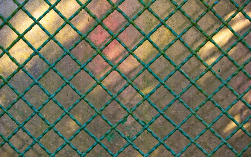 kolorowa siatka ogrodzeniowa