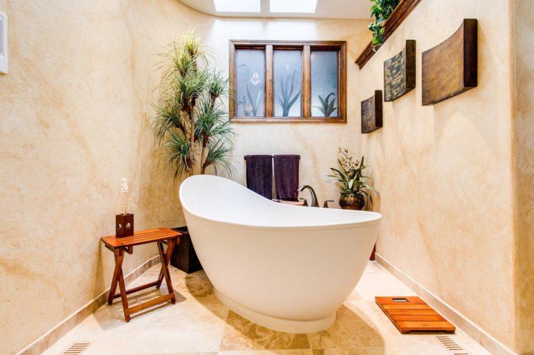 drewniane meble w łazience