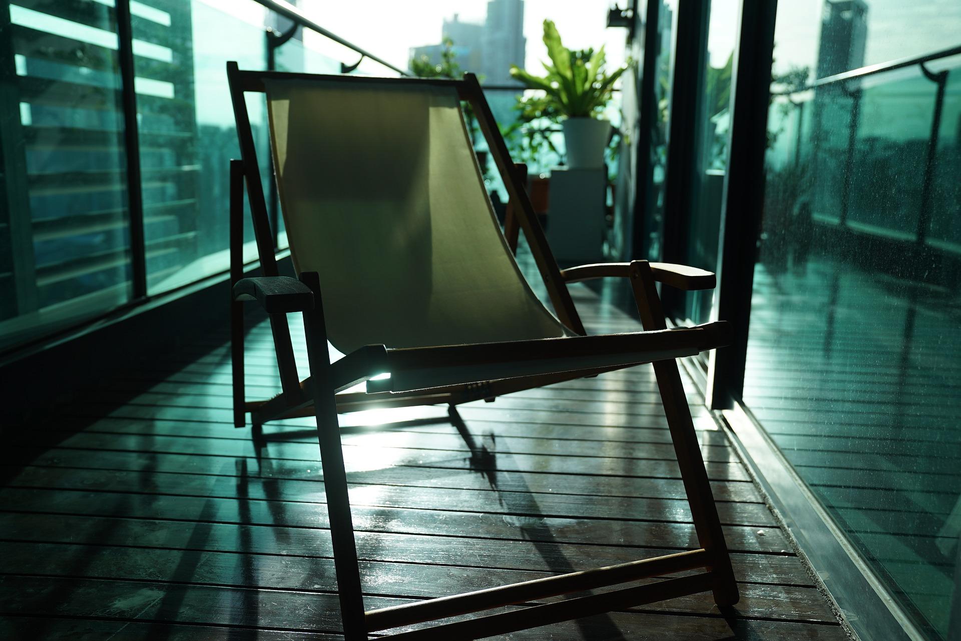 przytulny balkon